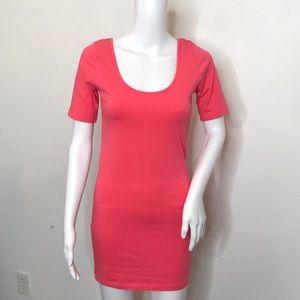 Forever 21 Salmon Scoop Neck & Back Dress
